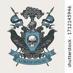 vector heraldic coat of arms...   Shutterstock .eps vector #1712145946