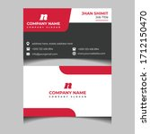 creative business cards with... | Shutterstock .eps vector #1712150470