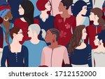 group of multiethnic...   Shutterstock . vector #1712152000