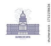 california state capitol... | Shutterstock .eps vector #1712158636
