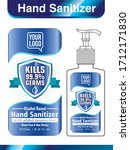 hand sanitizer label design... | Shutterstock .eps vector #1712171830