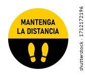 "mantenga la distancia  ""keep... | Shutterstock .eps vector #1712172196"
