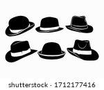 Six Retro Black Hats For Wearing