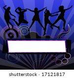 silhouette frame. | Shutterstock . vector #17121817