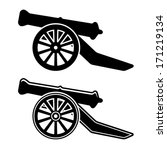 vector ancient cannon symbol | Shutterstock .eps vector #171219134