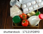 set of food in a box on a...   Shutterstock . vector #1712192893