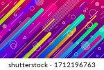 abstract purple pink gradient... | Shutterstock .eps vector #1712196763