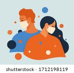 people feel anxiety and fear... | Shutterstock .eps vector #1712198119