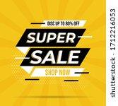 super sale banner templete... | Shutterstock .eps vector #1712216053