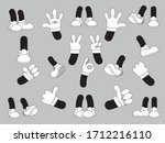 gloved hands with various... | Shutterstock .eps vector #1712216110