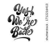 vector volumetric yes we're... | Shutterstock .eps vector #1712216413