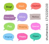 set of colorful sticker with... | Shutterstock .eps vector #1712220133