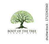 root of the tree logo... | Shutterstock .eps vector #1712242060