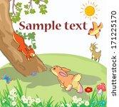 Stock vector vector illustration animal cartoon card concept 171225170
