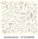 food and cooking vector set | Shutterstock .eps vector #171226040