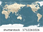 world map   pacific view   asia ... | Shutterstock .eps vector #1712261026