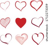 vector hand painted love symbol ...   Shutterstock .eps vector #1712273359