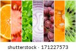 healthy fresh food background.... | Shutterstock . vector #171227573