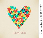 i love you valentine retro... | Shutterstock .eps vector #171227828