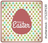 easter colorful background with ... | Shutterstock .eps vector #171229130