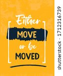 move success poster quote ...   Shutterstock .eps vector #1712316739