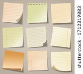 realistic blank sticky notes.... | Shutterstock .eps vector #1712319883