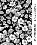 white vector flower image on...   Shutterstock .eps vector #1712325913