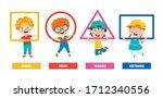 funny children learning basic...   Shutterstock .eps vector #1712340556