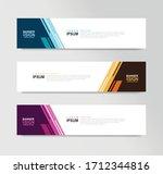 vector abstract banner design... | Shutterstock .eps vector #1712344816