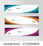 vector abstract banner design... | Shutterstock .eps vector #1712344843