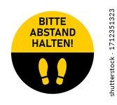 "bitte abstand halten  ""please...   Shutterstock .eps vector #1712351323"