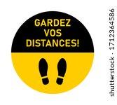 "gardez vos distances  ""keep...   Shutterstock .eps vector #1712364586"