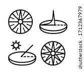 Sundial Icons Set. Outline Set...