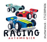 race cars typography t shirt... | Shutterstock .eps vector #1712389606