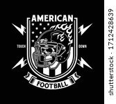 american football skull with...