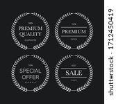 premium quality laurel wreath...   Shutterstock .eps vector #1712450419