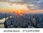 Aerial Photo Of Sunrise Of...