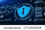 shield icon cyber security  hi...