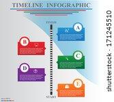 timeline infographics  elements ... | Shutterstock .eps vector #171245510