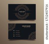 golden ornamental business card ... | Shutterstock .eps vector #1712457916