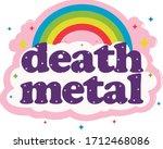 death metal t shirt logo design | Shutterstock .eps vector #1712468086