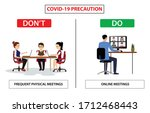 do and don't poster for covid... | Shutterstock .eps vector #1712468443