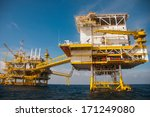 oil and gas platform in the... | Shutterstock . vector #171249080