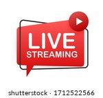live streaming flat logo  red... | Shutterstock .eps vector #1712522566