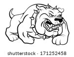 Bull Dog Vector Illustration - stock vector