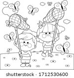 Children With Butterfly Nets...