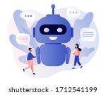 Chatbot Concept. Tiny People...