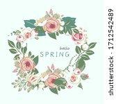 hello spring lettering spring...   Shutterstock .eps vector #1712542489