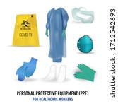 personal protective suit... | Shutterstock .eps vector #1712542693