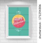valentine s day poster. vector... | Shutterstock .eps vector #171254306